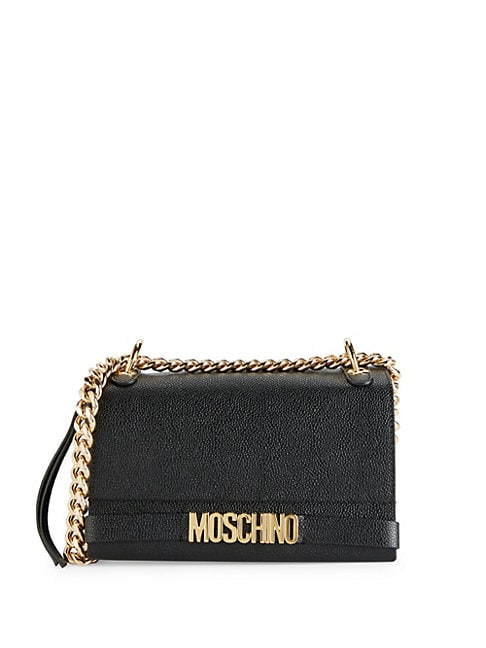 MOSCHINO | Textured Leather Crossbody Bag | Goxip