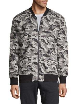 SOVEREIGN CODE Camouflage Patterned Jacket in Black