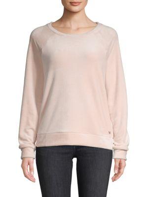 Marc New York Raglan-Sleeve Velour Sweater