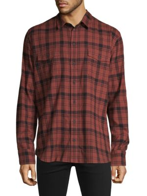 Paige T-shirts Plaid Long-Sleeve Shirt