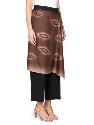 DRIES VAN NOTEN Silks Scarf Wrap Skirt Pants