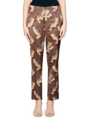 Dries Van Noten Pants Abstract-Print Trousers