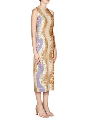 Dries Van Noten Shine Sequin Midi Dress