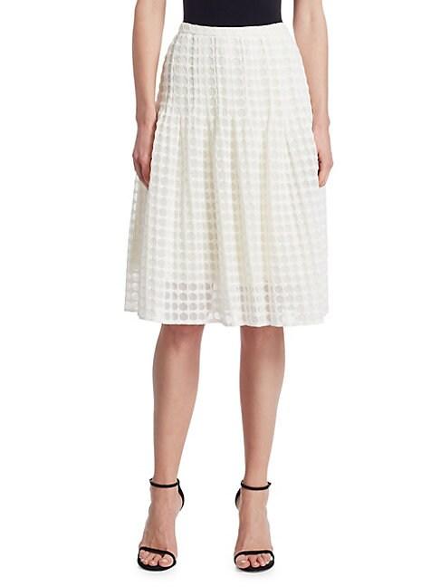 AKRIS PUNTO | Lace Knee Length Bell Skirt | Goxip