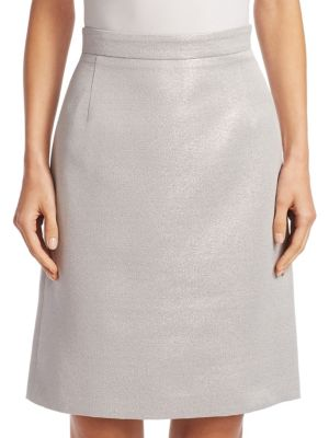 Akris Punto Cottons Metallic A-Line Skirt