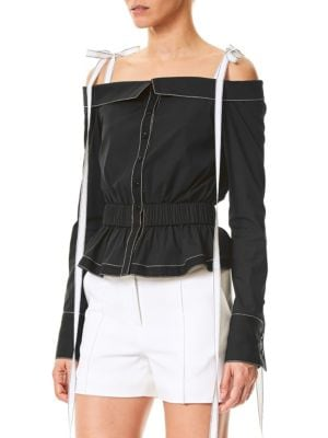 Carolina Herrera Off-The-Shoulder Blouse