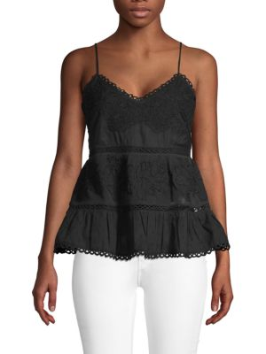 Love Sam Textured Lace Tank Top