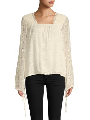 Love Sam Trimmed Long-Sleeve Top