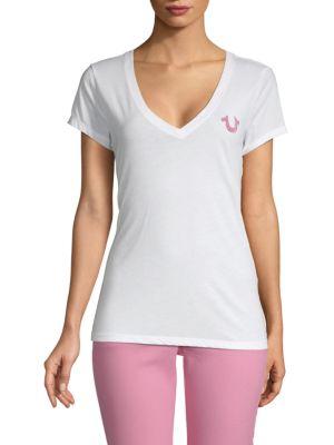 True Religion Cottons Logo V-Neck Tee