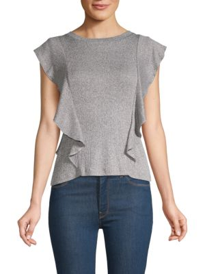 Bb Dakota Steller Heathered Ruffle T-Shirt