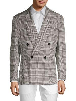 Ralph Lauren Jackets Standard-Fit Plaid Silk Suit Jacket