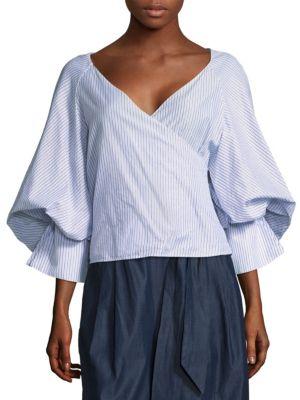 Caroline Constas Josie Puff-Sleeve Blouse