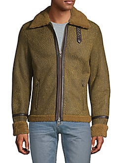 ca7b0cccafb2 Julian Shearling Leather Jacket DARK BROWN. QUICK VIEW. Product image