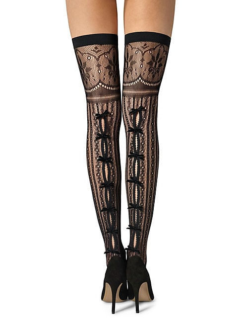 FOGAL | Kadisha Multi-Pattern Thigh High Socks | Goxip