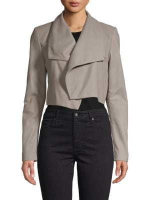 Lamarque Cropped Leather Jacket