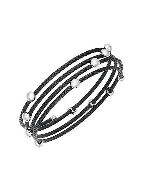 ALOR   Stainless Steel Coil Bracelet   Goxip