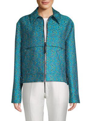 Marni Silks Floral Jacquard Jacket