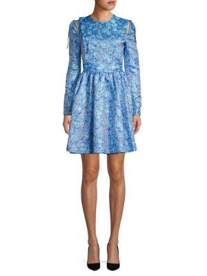 Calvin Klein Floral-Print Fit-&-Flare Dress