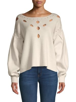 Wildfox Boatneck Cutout Sweater