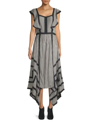 Love Sam Hailey Striped Midi Dress