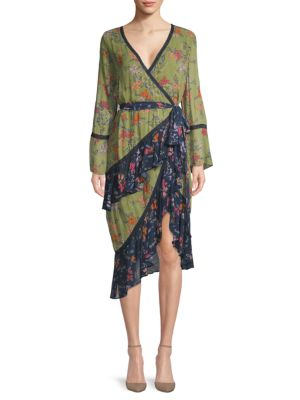 Love Sam Floral Wrap Dress