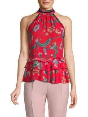 Love Sam Botanical Wildflower Sleeveless Top