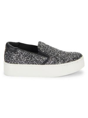 Kenneth Cole Joanie Glitter Platform Sneakers