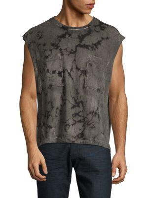 DRIFTER Ignus Tie-Dye Muscle Tee in Camo