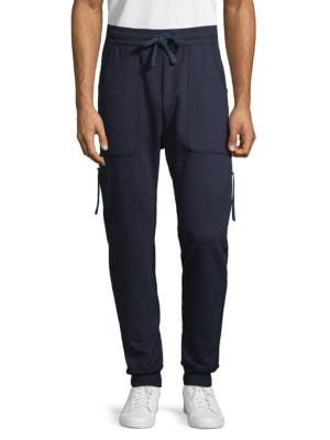 DRIFTER Muldoom Cotton Jogger Pants in Navy