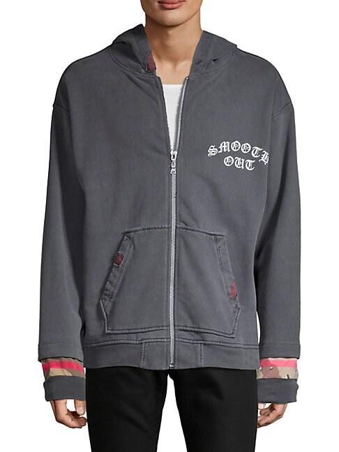 DRIFTER Orishas Cotton Hoodie in Grey