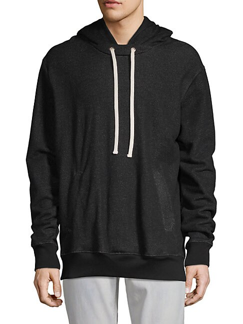 DRIFTER Sulfate Cotton Hoodie in Black