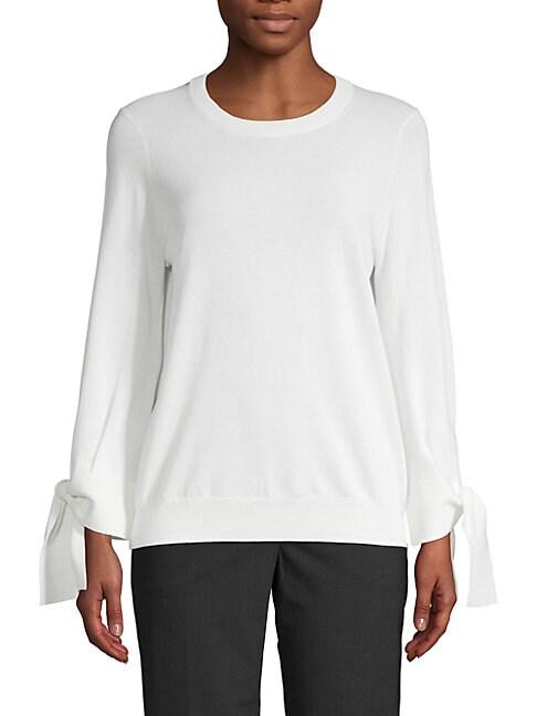 BROCHU WALKER | Roundneck Cotton Sweater | Goxip