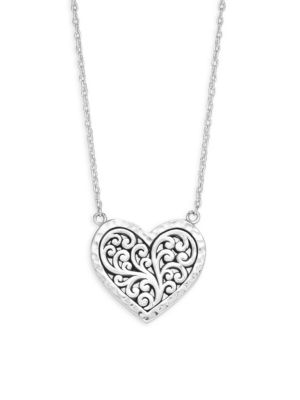 LOIS HILL Classic Sterling Silver Heart Pendant Necklace
