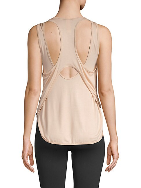 BODY LANGUAGE High-Low Cutout Tank in Sand