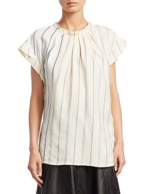 3.1 PHILLIP LIM Striped Gather Top