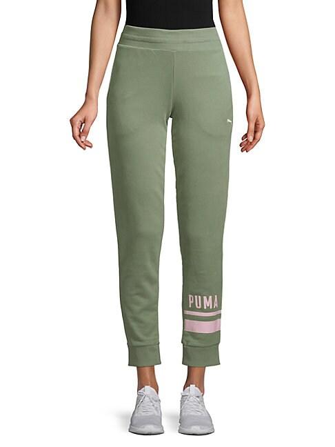 PUMA   Graphic Athletic Pants   Goxip