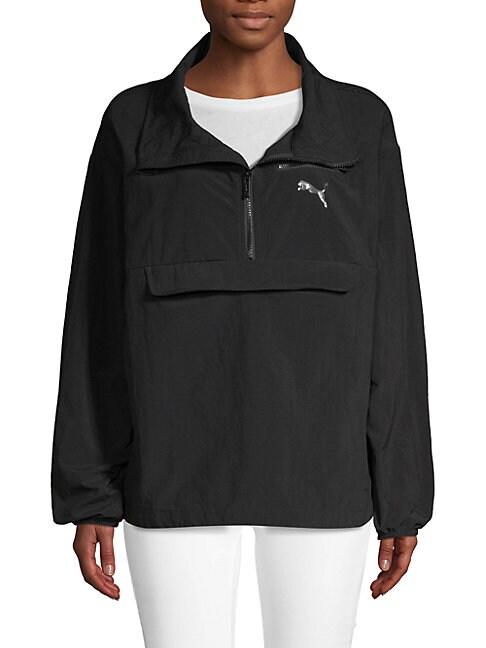 PUMA   Half-Zip Windbreaker Jacket   Goxip