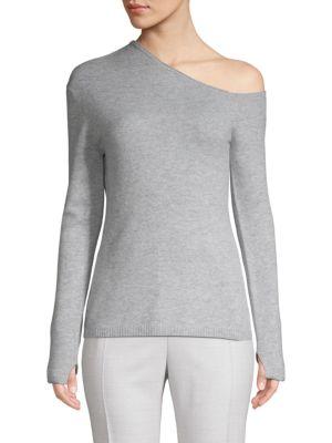 Inhabit Wool & Cashmere One-Shoulder Top