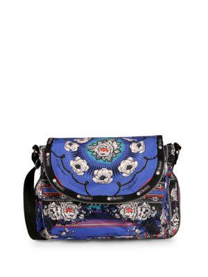 Lesportsac Colette Floral Canvas Messenger Bag