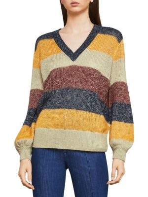 Bcbgmaxazria Striped Long-Sleeve Sweater