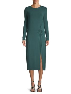 Bcbgmaxazria Knit Pleated Sheath Dress