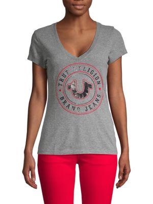 True Religion Short-Sleeve Logo Tee