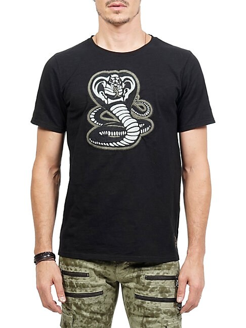 CULT OF INDIVIDUALITY | Cobra Crewneck Cotton Tee | Goxip