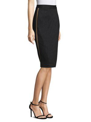 MAX MARA Cottons Eracle Pinstriped Pencil Skirt