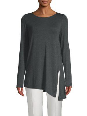 Max Studio Asymmetrical Long-Sleeve Top