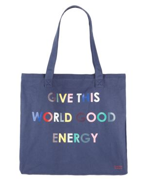 PEACE LOVE WORLD Loved Oversized Tote in Navy