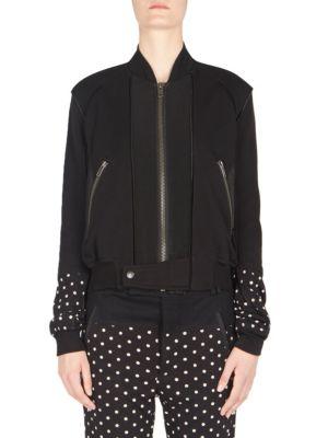 Haider Ackermann Cottons Cotton Jersey Bomber Jacket