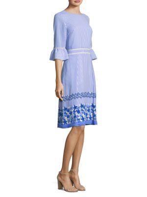 Draper James Willowwick Floral Striped Dress