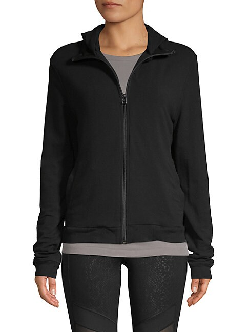BODY LANGUAGE Carter Zip-Up Jacket in Black