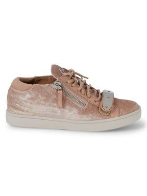 Giuseppe Zanotti Velvet Plaque Sneakers